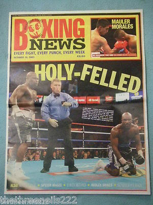 BOXING NEWS - HOLYFIELD v TONEY - OCT 20 2003