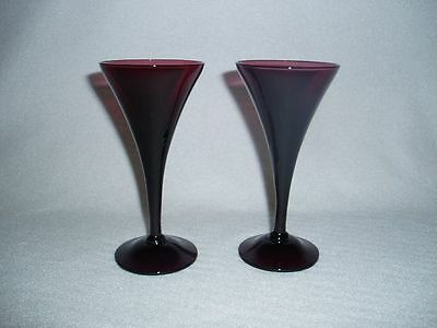Amethyst Cambridge Glass 7966 2 Ounce Sherry or Wine Goblets Set of 2