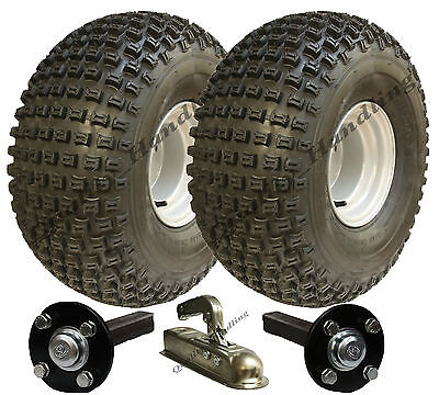 ATV trailer kit oversize tyre Quad trailer wheels + hub / stub + hitch 310kg