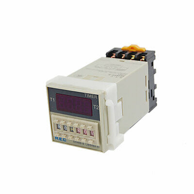 0.1s - 99h 24V DC Programmable Double Time Delay Relay Digital Timer DH48S-S