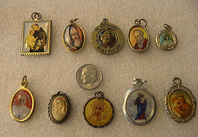 Vintage Religious Catholic Holy Various Saints/lot of #10