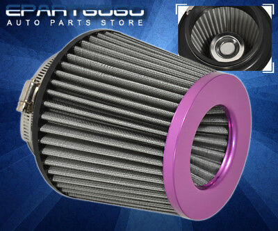 "FOR MITSUBISHI 3"" AIR FILTER WASHABLE REPLACEMENT UPGRADE INTAKE + CLAMP PURPLE"