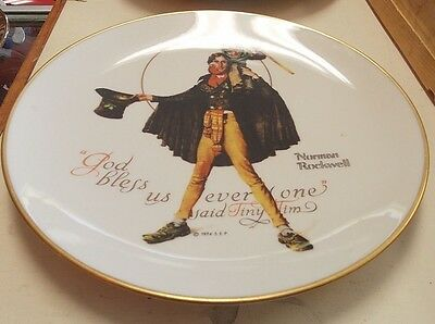 Norman rockwell plate Tiny Tim