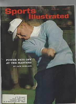 SPORTS ILLUSTRATED APRIL 6 1964 JACK NICKLAUS GOLFER  GOLF COVER LOW SHIP