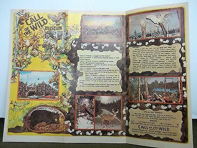 Call of the Wild Michigan Museum Wildlife Taxidermy Trifold Map Travel Brochure