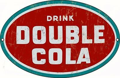 Drink Double Cola Nostalgic Country Advertisement Sign
