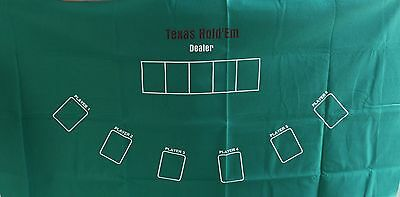 Texas Hold'em Felt Mat Poker Card Playing Mat Man Cave Pool Room