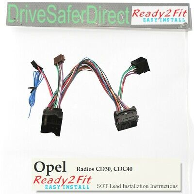 ISO-SOT-122-a Lead,cable,adaptor for Parrot Opel Radios CD30,CDC40