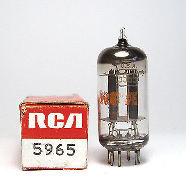 RCA 5965 / E180CC Röhre, Twin Triode Tube for Audio, NOS