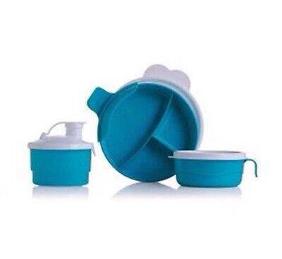 Tupperware Baby Stages Feeding Set Blue