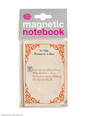Brainbox Candy Old Woman In Shoe funny rude magnetic notebook Christmas gift
