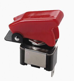 Heavy Duty Branded Red Top Gun Opaque On / Off Car Dashboard Toggle Flick Switch