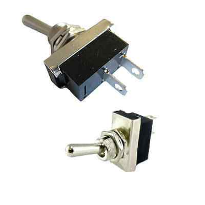Heavy Duty On/Off Metal Toggle Switch - 25A 12V  - ALM895