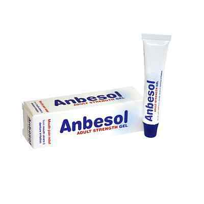 Anbesol Adult Strength Gel - MOUTH ULCER PAIN GEL -- 10g