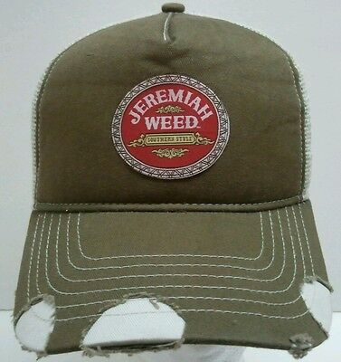 Jeremiah Weed Southern Style Liquor Brown Mesh Trucker Snapback Hat Cap New
