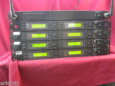Shure U4D UHF wireless UA System 8 Channel w/ 10 Packs with microphones