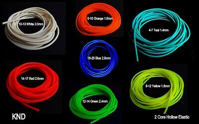 NEW KND 2 CORE HOLLOW LATEX POLE ELASTIC 2M, 2.5M or 3 METRES