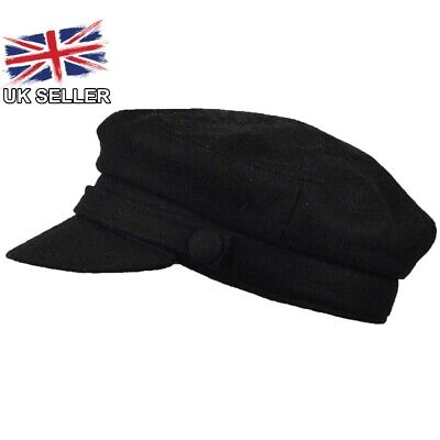 New Mens Womens Ladies Girl Wool Blend Fiddler Baker Boy Bretton Newsboy Cap Hat