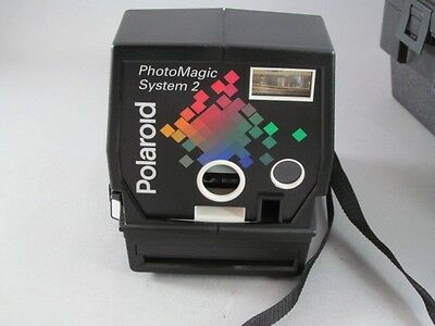 Vintage Polaroid Photo Magic System 2 Instant Camera With Case