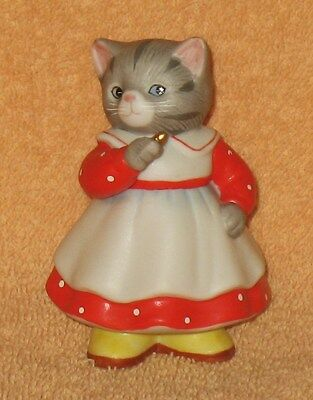 KITTY CUCUMBER DRESSED IN RED FIGURINE