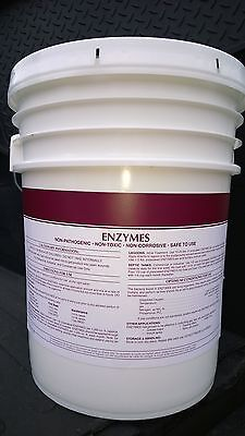 50 Lbs Powder Bacteria Enzyme Drain Opener Septic Tank Grease Trap Treatment