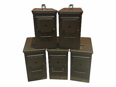 Blank 5 Cans! Brand New Mil-Spec Tall 50 Cal Pa-19 Empty Ammo Can Rare