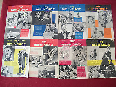 Vintage Family Circle Magazine - 8 Issues 1944 Wasps Frank Sinatra Ginger Rogers