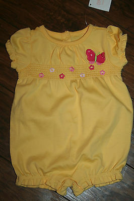 Gymboree BRAND NEW BABY butterfly & flowers one piece outfit size 3-6 months NWT
