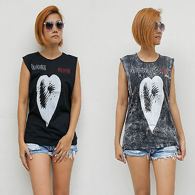 Women's Foo Fighters Vest Tank Top T Shirt Ladies Singlet Dave Grohl S/M - M/L