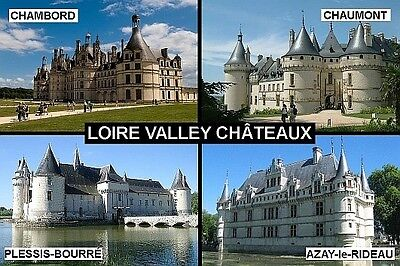 SOUVENIR FRIDGE MAGNET of LOIRE VALLEY CHATEAUX FRANCE