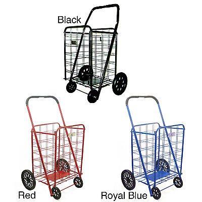 NEW Extra Large Heavy-Duty Shopping Cart for Grocery Laundry on Wheels