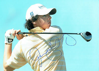 Rory McILROY Signed Autograph 16x12 GOLF Photo World No 1 RARE AFTAL COA
