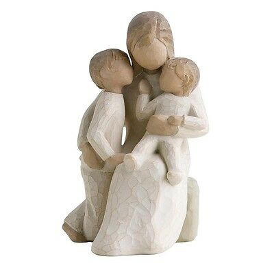 New & Boxed Willow Tree Figurine with Children 'Quietly' #26100 Family Gift