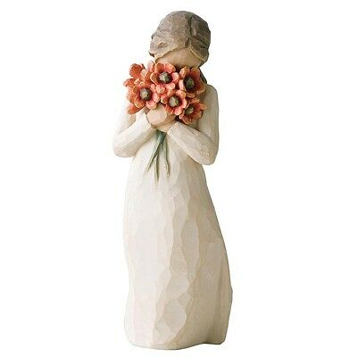 New & Boxed Willow Tree Figurine Girl with Flowers 'Surrounded by Love' #26233