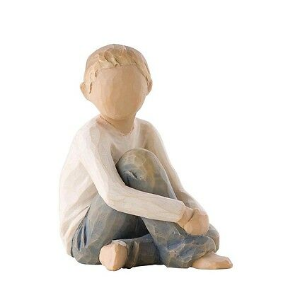 New & Boxed Willow Tree Figurine Young Boy 'Caring Child #26228 Mothers Day