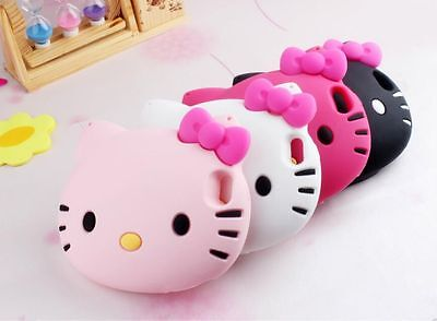 Cute Big Head 3D Hello Kitty Leather Chain Silicone For iphone6 4.7/5G 5S+Gift
