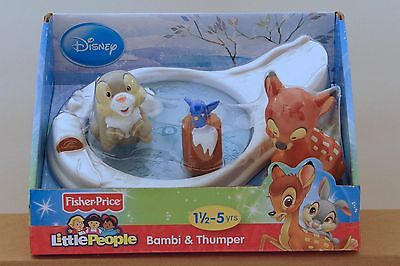 Bambi and Thumper, Disney Movie, Fisher-Price Little People,  X7831 New in Box