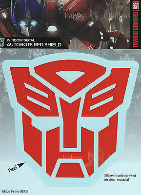 """Transformers AUTOBOTS RED SHIELD Car Window Sticker Decal - 5"""" Officially Lic"""