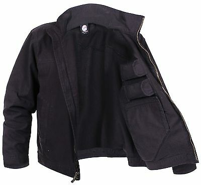 Men's Lightweight Concealed Carry Jacket - Black Tactical Coat by Rothco