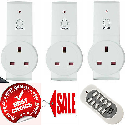 New Remote Control Sockets Wireless Switch Home Mains UK Plug AC Power Outlet