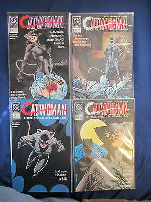 Catwoman complete 4 part  mini series, DC Comics (1989) all 4 issues (EUC)