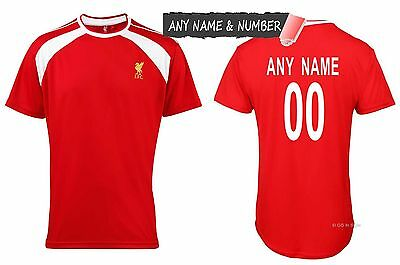 Personalised Kids Liverpool Fc 100% Official Football T Shirt Genuine Any Name