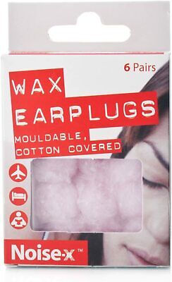 NOISE-X EAR PLUGS WAX 6pairs(Special Price)