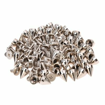50Pcs Metal Cone Screwback Spikes Stud Leather Cloth Craft DIY Goth Punk Spot WS