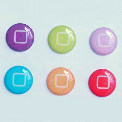 6pcs New Style Buttons Designs Home Page Button Stickers for iPad ipod Iphone WS