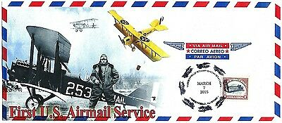 Commemorating the First U.S. Airmail Service Inverted Jenny Stamp-Westfield, NJ.