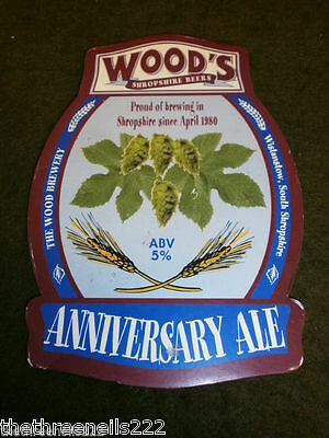 Beer Pump Clip - Wood's Anniversary Ale