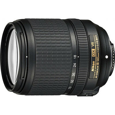 Nikon AF-S DX NIKKOR 18-140mm f/3.5-5.6G ED VR Lens - Factory Refurbished