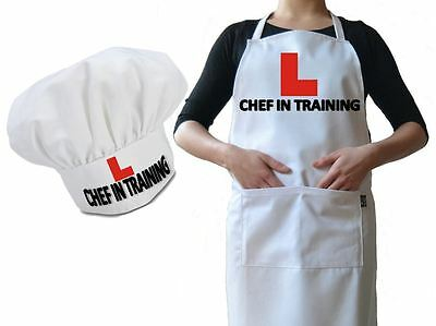 Personalised Chef Hat & Apron Chef In Training Cooking Funny Novelty Luxury Gift