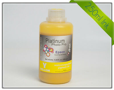 Rihac 250ml Yellow Pigment Ink for Epson R3000 Stylus photo Printer Refill Ink